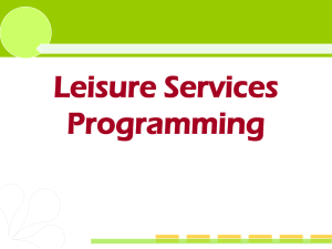 Leisure Services Programming