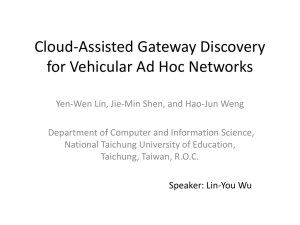 Cloud-Assisted Gateway Discovery for Vehicular Ad Hoc Networks