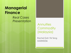 Managerial Finance Annuities Commodity
