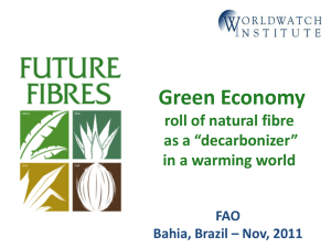 "Green Economy roll of natural fibre as a ""decarbonizer"" in a warming world"