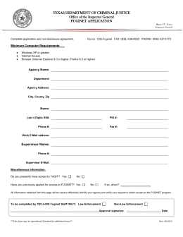 texas department of criminal justice office of the inspector general fuginet application