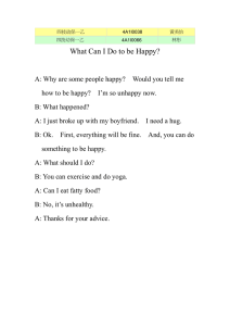What Can I Do to be Happy?