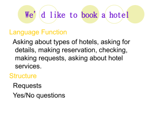 We'd like to book a hotel