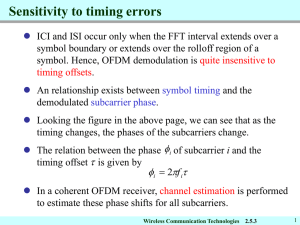 Sensitivity to timing errors