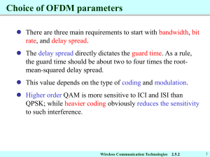Choice of OFDM parameters
