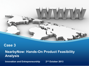 Case 3 NearbyNow: Hands-On Product Feasibility Analysis