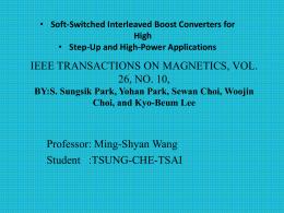 IEEE TRANSACTIONS ON MAGNETICS, VOL. 26, NO. 10, Professor: Ming-Shyan Wang