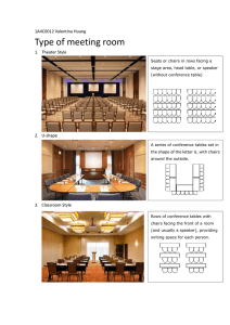 Type of meeting room 1A4C0012 Valentina Huang 1.  Theater Style