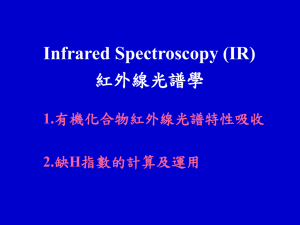 Infrared Spectroscopy (IR) 紅外線光譜學 1. 2.