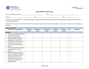 School Wellness Policy Tools