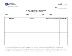 School Assessment Planning Tool