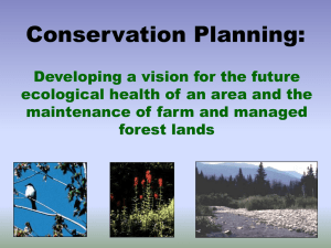 Conservation Planning: