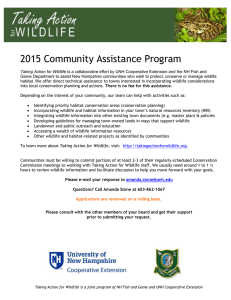 2015 Community Assistance Program