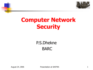 Computer Network Security P.S.Dhekne BARC