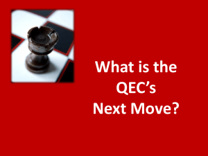 What is the QEC's Next Move?