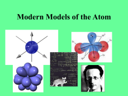 Modern Models of the Atom