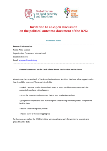 Invitation to an open discussion