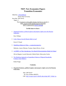 NEP: New Economics Papers Transition Economics