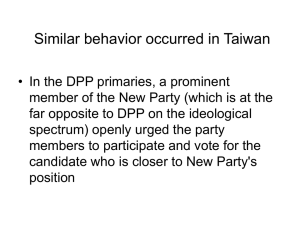 Similar behavior occurred in Taiwan