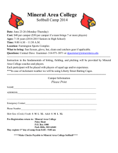 Mineral Area College  Softball Camp 2014