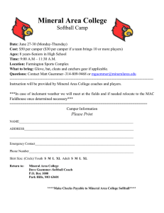Mineral Area College  Softball Camp