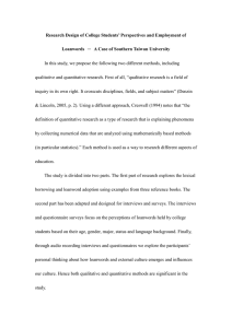 Research Design of College Students' Perspectives and Employment of Loanwords