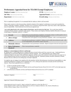 Performance Appraisal form for TEAMS Exempt Employees Employee's name:  UF ID: