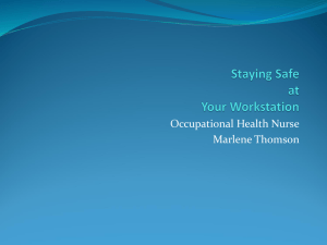 Occupational Health Nurse Marlene Thomson