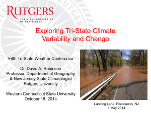 Exploring Tri-State Climate Variability and Change