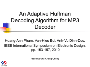 An Adaptive Huffman Decoding Algorithm for MP3 Decoder