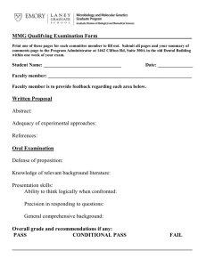 MMG Qualifying Examination Form___________________________________