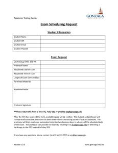 Exam Scheduling Request  Student Information Exam Request
