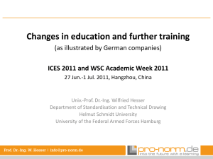 Changes in education and further training (as illustrated by German companies)