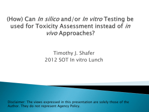 Timothy J. Shafer 2012 SOT In vitro Lunch