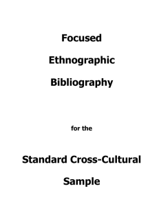 Focused Ethnographic Bibliography Standard Cross-Cultural