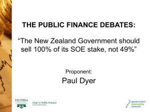 "Paul Dyer THE PUBLIC FINANCE DEBATES: ""The New Zealand Government should"