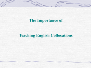 The Importance of Teaching English Collocations