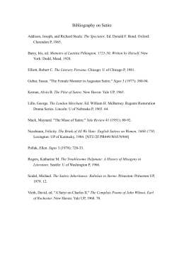 satire bibliography Essays in satire by knox, ronald and a great selection of similar used, new and collectible books available now at abebookscom.