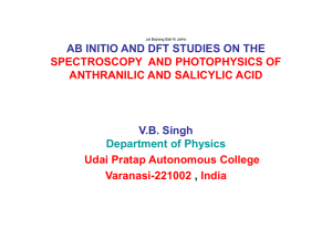 AB INITIO AND DFT STUDIES ON THE V.B. Singh