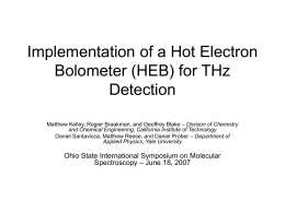 Implementation of a Hot Electron Bolometer (HEB) for THz Detection