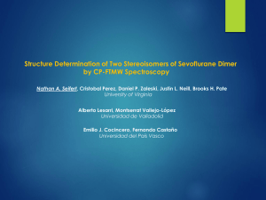 Structure Determination of Two Stereoisomers of Sevoflurane Dimer by CP-FTMW Spectroscopy