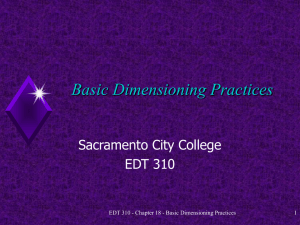 Basic Dimensioning Practices Sacramento City College EDT 310