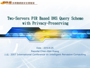 Two-Servers PIR Based DNS Query Scheme with Privacy-Preserving