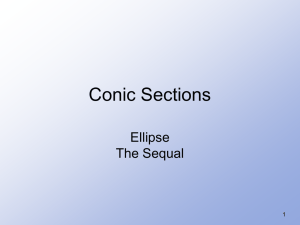 Conic Sections Ellipse The Sequal 1