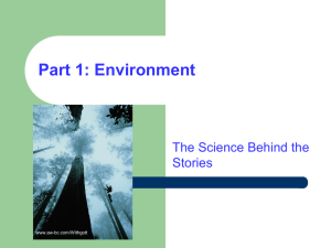 Part 1: Environment The Science Behind the Stories www.aw-bc.com/Withgott