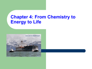 Chapter 4: From Chemistry to Energy to Life www.aw-bc.com/Withgott