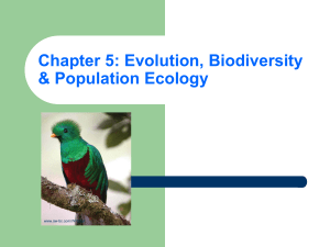 Chapter 5: Evolution, Biodiversity & Population Ecology www.aw-bc.com/Withgott