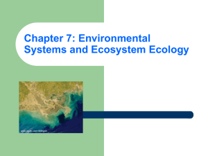 Chapter 7: Environmental Systems and Ecosystem Ecology www.aw-bc.com/Withgott