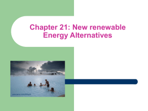 Chapter 21: New renewable Energy Alternatives www.aw-bc.com/Withgott