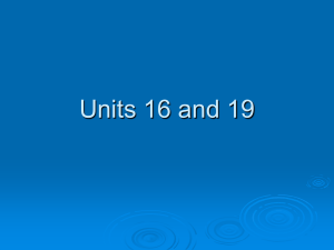 Units 16 and 19